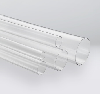 """Packing Shipping 10 Pack 3/"""" OD Clear Plastic Tube 12/"""" Long w Black Rubber Caps"""